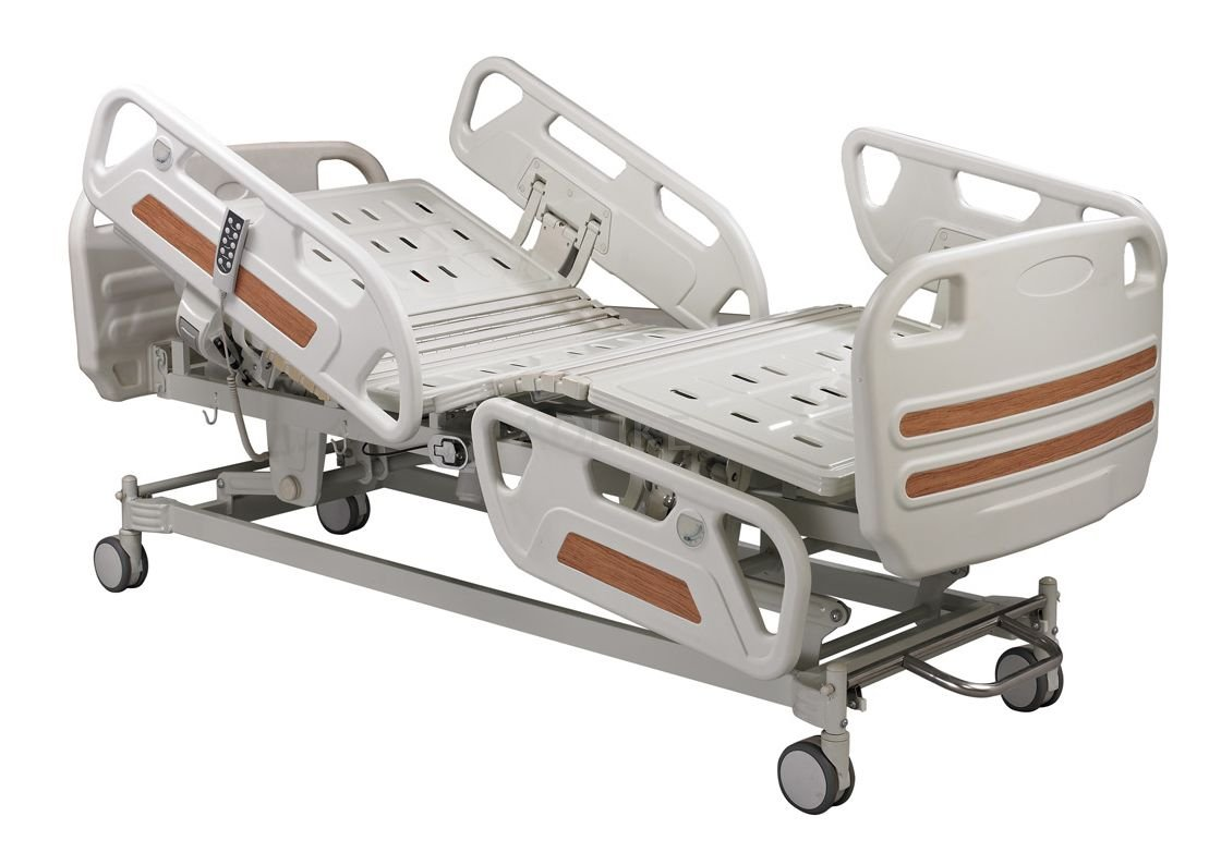 CE,FDA,ISO13485 Quality Five Function Electric Ward bed(long bedrail) ALK06-B01P-B