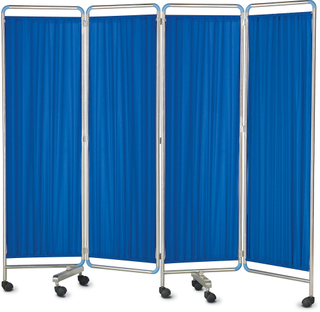 Stainless steel Four Section Medical Screen