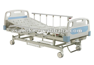 CE,FDA approved High Quality And Inexpensive 2 function hospital bed with central brakes